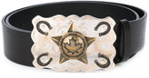 DSQUARED2 cowboy star buckle belt - men - Leather/Metal (Other) - 90