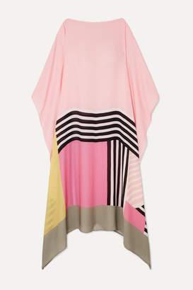 Louisa Parris - Cadell Printed Silk-georgette Dress - Blush