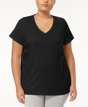 Hue Plus Size V-Neck Pajama Top