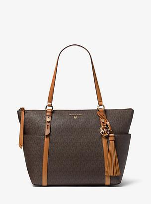 Michael Kors Sullivan Large Logo Top-Zip Tote Bag