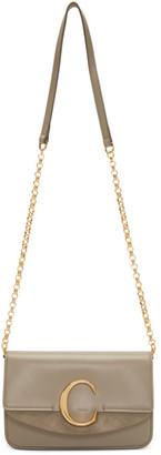 Chloé Grey C Chain Clutch Bag