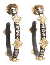 Armenta Small Midnight Hoops with Diamond Cravelli Crosses