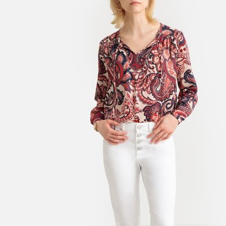 Only Round Neck Long-Sleeved Blouse