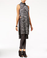 Material Girl Juniors' Side-Slit Turtleneck Tunic Sweater, Only at Macy's