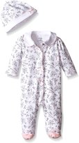 Little Me Baby Toile Footie with Hat