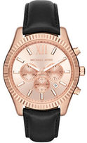 Michael Kors Lexington Stainless Steel Chronograph Strap Watch