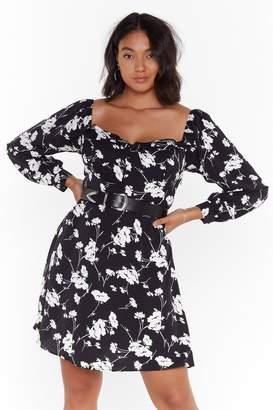 Nasty Gal Womens Growing On Me Plus Floral Dress - black - 24