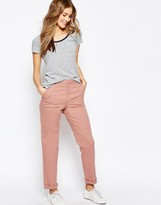 Asos Casual Chino Trousers With Roll Hem