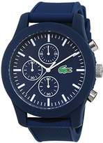 Lacoste Mens Quartz Watch, Chronograph Display and Silicone Strap 2010824