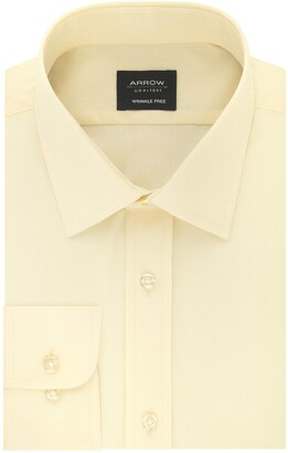 Arrow 1851 Arrow Men's Dress Shirt Poplin Fitted Spread Collar