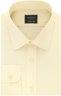 Arrow 1851 Arrow Men's Dress Shirt Poplin Regular Fit Spread Collar