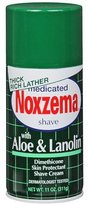 Alöe Medicated Shave Cream with And Lanolin By Noxzema for Men Shave Cream, 11 Ounce