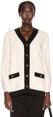 Gucci Long Sleeve Jacket in Ninfea White | FWRD
