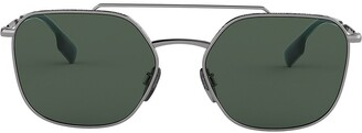 Burberry Eyewear Square Frame Aviator Sunglasses