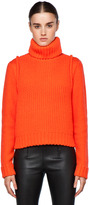 Proenza Schouler Chunky Turtleneck in Bright Coral