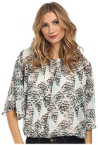 Vince Camuto Breeze Blocks Batwing Sleeve Blouse