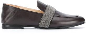 Fabiana Filippi Bead Embellished Slip-On Loafers