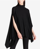 DKNY Asymmetrical Turtleneck Poncho