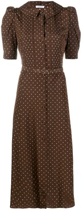 P.A.R.O.S.H. Polka Dot-Print Midi Dress
