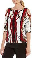 Eva Varro Open-Shoulder Poncho Tunic