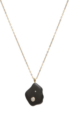 Cvc Stones 18k Gold Irregular Cafe Noir Necklace - One of a Kind, 18""