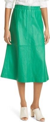 MUNTHE Taut Leather Skirt