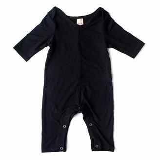 Smash + Tess Mini Friday Romper Cotton Rayon Spandex Black 6 to 12 Months