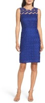 Adrianna Papell Women's Trellis Embroidered Sheath Dress