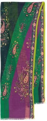 Etro Paisley cashmere scarf