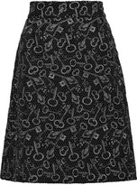 Dolce & Gabbana Lamé and crepe mini skirt