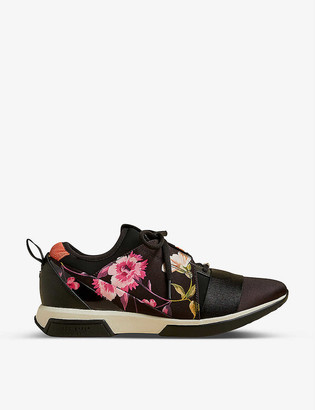 Ted Baker Rhubarb floral-print woven running trainers