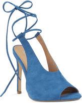Nine West Suprgal Lace-Up Mule Sandals