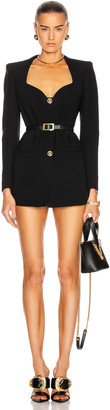 Versace Long Sleeve Blazer Dress in Black | FWRD