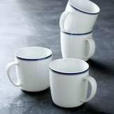Williams Sonoma Open Kitchen Bistro Mugs, Set of 4, Blue