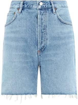 A Gold E Agolde Rumi Denim Cut-Off Shorts