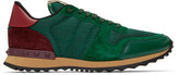 Valentino Green Mesh Rockrunner Sneakers