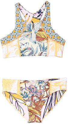 Maaji Kids Starry Night Bikini Set (Toddler/Little Kids/Big Kids) (Orange) Girl's Swimwear Sets