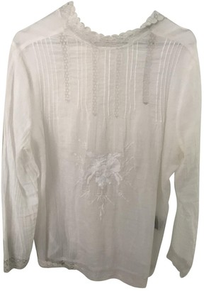 Gat Rimon White Cotton Top for Women