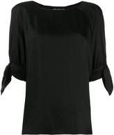 Moschino tie cuff blouse