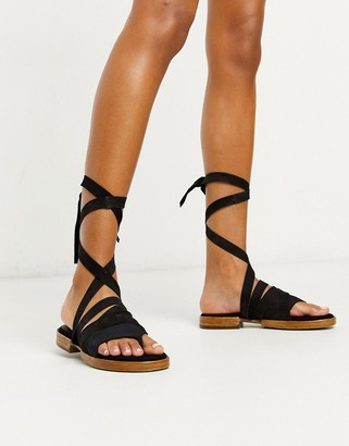 Free People sun valley wrap up heeled sandals