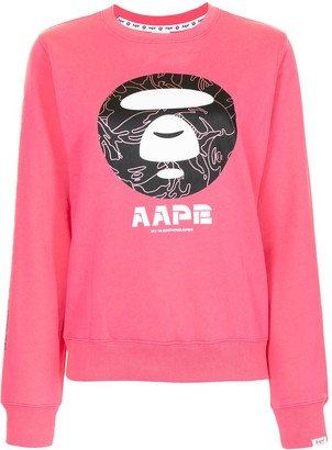 AAPE BY *A BATHING APE® Graphic-Print Crew-Neck Sweatshirt