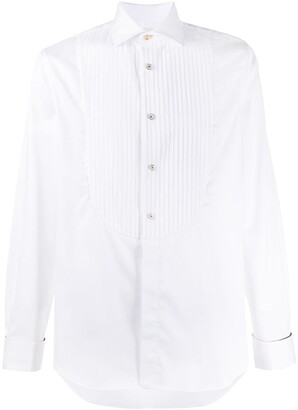 Paul Smith long sleeve pleated bib shirt