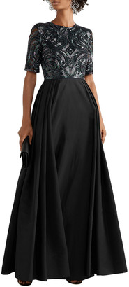 Naeem Khan Embellished Silk-tulle And Taffeta Gown