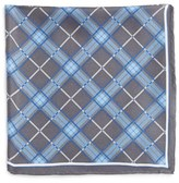 Robert Talbott Men's Plaid Silk Pocket Square