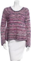 Maje Metallic Pattterned Sweater