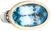 John Hardy Two-Tone Blue Topaz Cocktail Ring