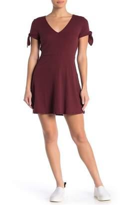 Cotton On Sadie Tie Sleeve Fit & Flare Dress