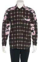 Givenchy Floral Plaid Shirt