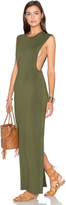 Bobi Jersey Sleeveless Back Slit Maxi Dress