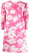 MSGM abstract floral print dress